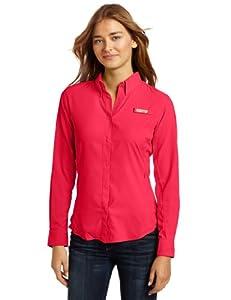 Columbia FL7278 Women's Women's Tamiami II LS Shirt, Bright Rose/Ocean - XS