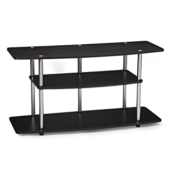 Set A Shopping Price Drop Alert For Convenience Concepts 131031 Designs-2-Go Wide 3-Tier Wood Grain TV Stand, Black