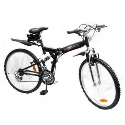 21 Speed Folding Mountain Bike w/ Suspension Frame
