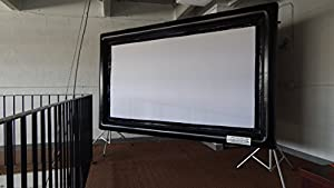 Scroovie Deluxe Portable Projection Screen 10'x6' Indoor/outdoor