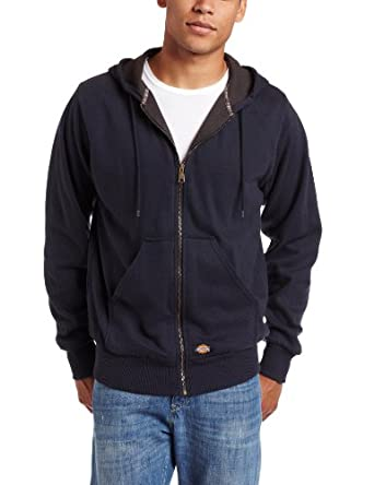 Dickies Men's Thermal Lined Fleece Jacket, Dark Navy, Large
