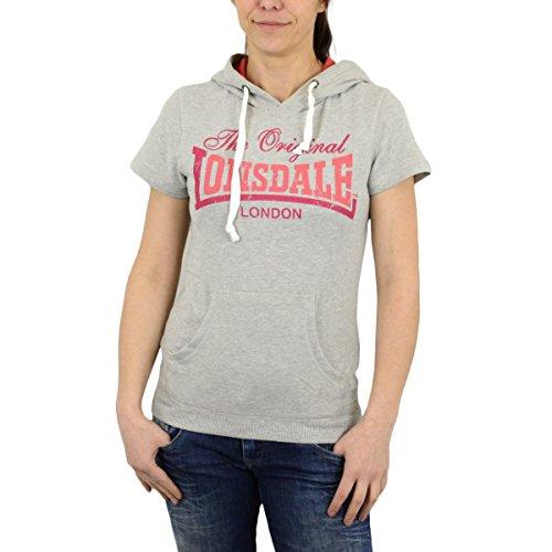 Lonsdale -  Felpa  - Donna misto grigio Small