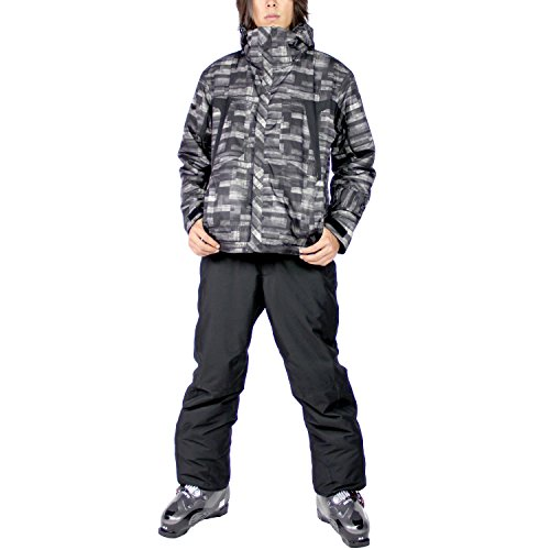 VAXPOT(バックスポット) スキーウェア 上下セット メンズ【耐水圧5000mm 透湿3000g 撥水加工】 VA-2016 PT-MON/BLK XL(男性用XL)
