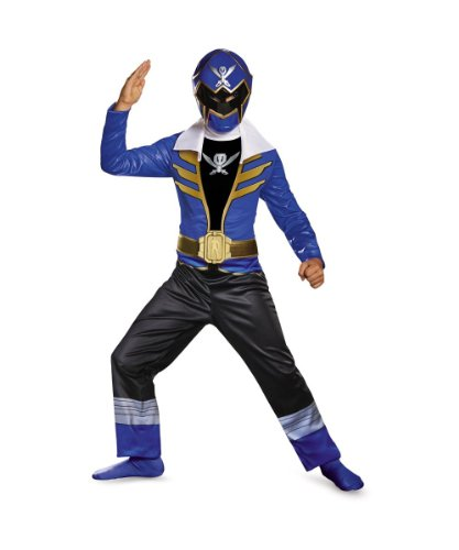 Blue Power Ranger Super Megaforce Superhero Boys Halloween Costume