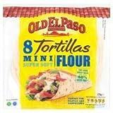 Old El Paso 8 X Mini Super Soft Flour Tortillas 200G