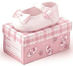 Sweet Girl Pink Ceramic Shoe with Scripture / Religious