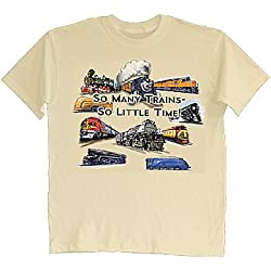 So Many Trains So Little Time - Locomotive Enthusiasts Beige T-Shirt