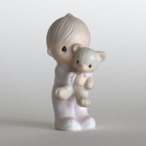 Precious Moments Figurine ~ Jesus Loves Me ~ Boy #E-9278 front-1058193