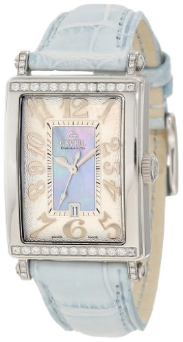 Gevril Women's 7247NT Avenue of Americas Blue Diamond Watch