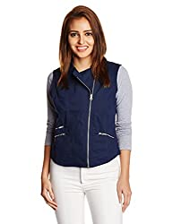 People Women's Cotton Down Jackets (P20402114974252_Indigo_XS)