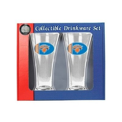 NBA New York Knicks Two Piece 16-Ounce Pilsner Glass Set