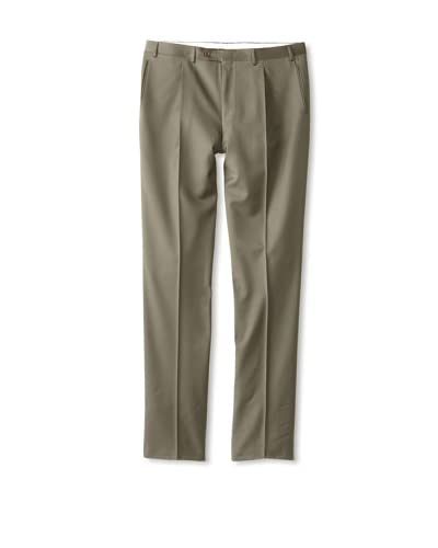Canali Men's Basic Single Pleat Twill Trouser
