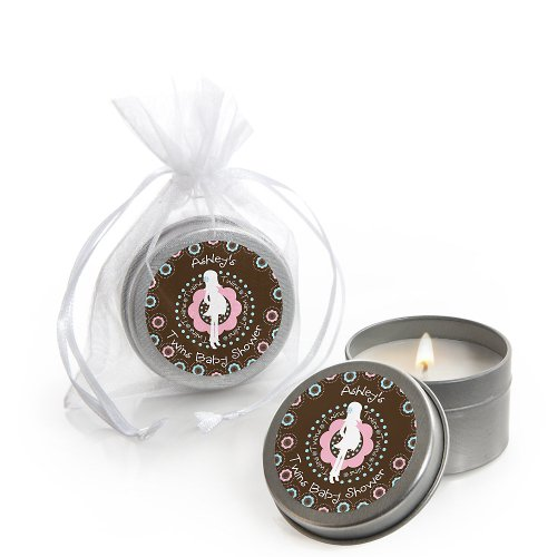 Twins Trendy Mommy - Personalized Baby Shower Candle Tin Favors front-801989