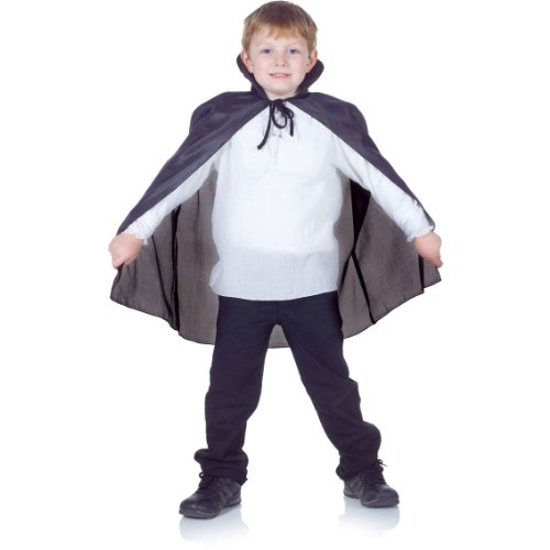 CAPE TAFFETA CHILD BLACK - 1