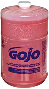 GOJO 1845-04 Pink Antimicrobial Lotion Soap, 1 Gallon (Case of 4)