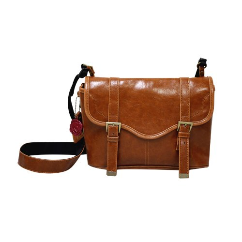 Faux Leather Vintage Camera Bag Style With Shoulder Strap - Blue ...