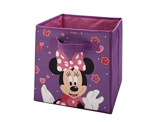 Disney Minnie Collapsible Storage Bin, Purple, Pink, Black, White
