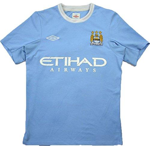 Umbro-Maglia Manchester City FC-2010-Maglietta da calcio, da uomo, colore: blu