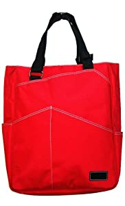 Maggie Mather Tennis Red Tote