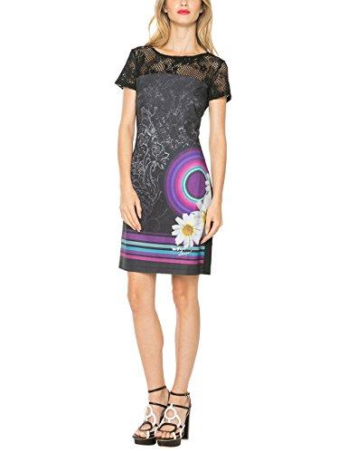 Desigual Damen Kleid Galactic Rep, Schwarz, 44 (Herstellergröße: 44) thumbnail