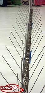 Dissuasori anti piccioni colombi aghi spilli inox 1 mt for Dissuasori piccioni amazon