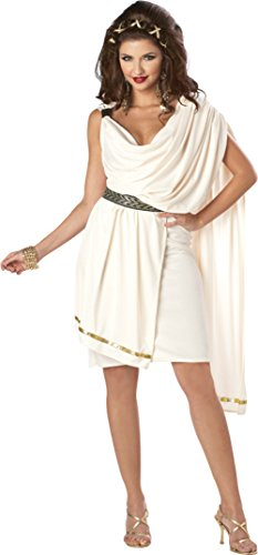 California Costumes Womens Soroity Deluxe Classic Toga Fancy Halloween Dress