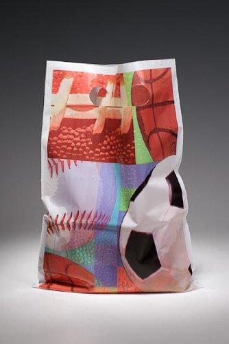 48 Soccer, Baseball, Football, Basketball Sport Theme Poly Printed Treat Bags