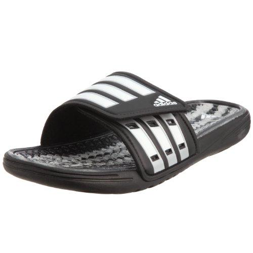 Adidas Performance Calissage, Ciabatte per Doccia da Uomo, Colore Nero (Black/White/Metallic Silver), Taglia  38 EU