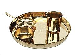 Rastogi Handicrafts bronze Dinner set (Kansa Thali) RH-RR
