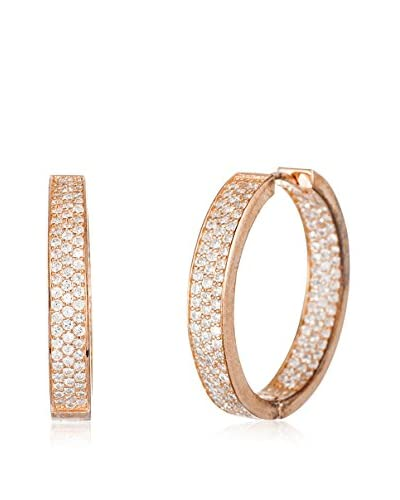 Bliss 18K Rose Gold Cubic Zirconia Hoop Earrings