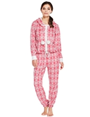 Hooded Fair Isle Fleece Onesie