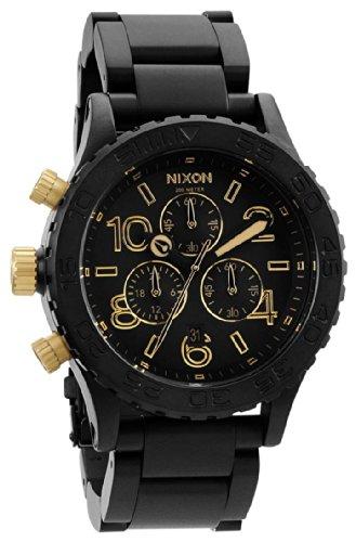 Matte Black / Oro Il 42-20 Chrono Orologi di Nixon