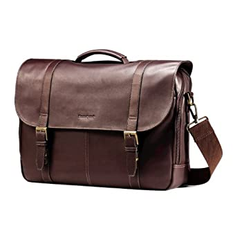Samsonite Colombian Leather Flap-Over Laptop Case