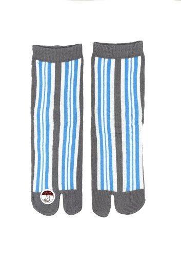 Japanese Ninja Tabi Flip- Flop Socks: Line (Blue) Us Women Size 5~8.5, Sport, Sporting Good, Fitness front-25475