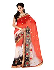 De Marca Multi Art Silk Designer G-348 Saree