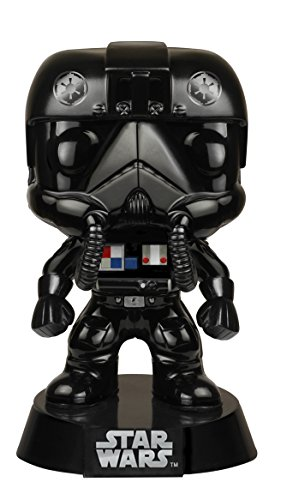 Funko POP Star Wars: Black Chrome Tie-Fighter Pilot NYCC Exclusive Action Figure