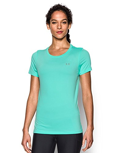 Under Armour UA Hg  SS T-Shirt con Maniche Corte Donna - Verde (Crystal) - S