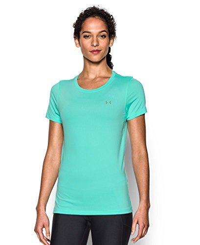 Under Armour UA Hg  SS T-Shirt con Maniche Corte Donna - Verde (Crystal) - S