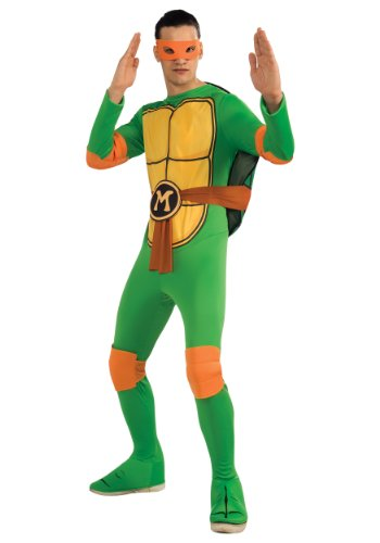 Rubies Mens Teenage Mutant Ninja Turtles Michelangelo Dress Costume