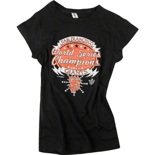 San Francisco Giants Womens 2010 World Series Champions Celebration Cap Sleeve T Shirt