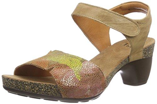 Think!Traudi Sandalen - Sandali con Cinturino alla Caviglia Donna , Marrone (Braun (CAPPUCINO/KOMBI 52)), 43