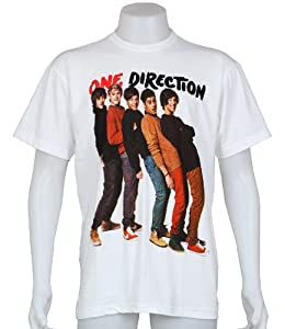 One Direction Uk Boy Band Niall Zayn Liam Harry Louis Size Xl White Tee T-shirt from Smock