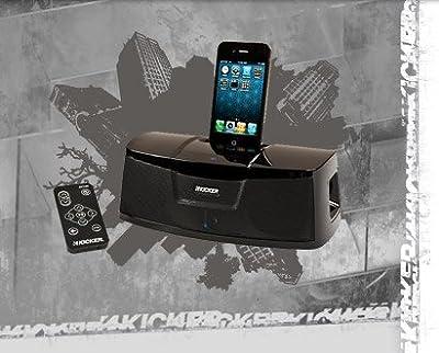 Kicker iK100 Docking Station for iPod/iPhone (Black) by Kicker USA