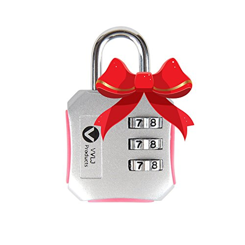 Luggage Travel Gym Lock with 3 Digit Easily Customizable Code Combination Padlock Bike Lockers Gym Travel Bags and Suitcases Get It Now and Be Safe (Master Speed Dial Padlock compare prices)