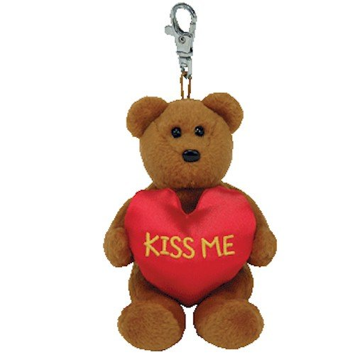Ty Valenteenies Kiss Me - Bear Keyclip