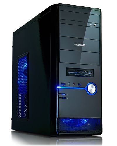 Ankermann-PC GAMER Desktop, AMD FX-4300 4x 3.8 GHz Turbo: 4.00GHz, ASUS GeForce GTX 750 Ti 2048 MB, 8 GB DDR3 RAM, 2000 GB Festplatte, DVD-RW, ohne Betriebssystem, Card Reader, EAN V4-HOGH-KO6Q