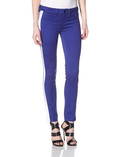 SOLD Design Lab Women's Skinny Tuxedo Stripe Pant  - Royal Blue