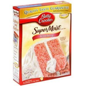 Betty Crocker Super Moist Strawberry Cake Mix 18.25 oz