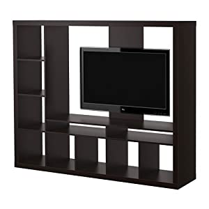 ikea expedit entertainment center tv stand up to 55 flat screen tvs home. Black Bedroom Furniture Sets. Home Design Ideas