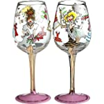 Bottom's Up 15-Ounce Bridesmaid Handpainted Wine Glass